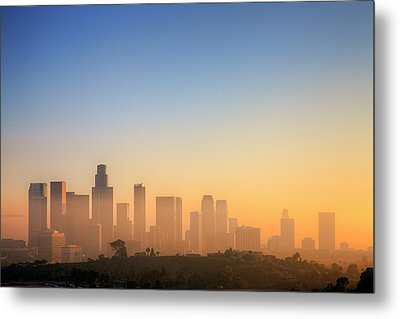 Los Angeles Sunset Metal Print by Eric Lo
