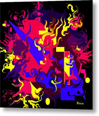 Loss Of Equilibrium Metal Print by Yvonne Blasy