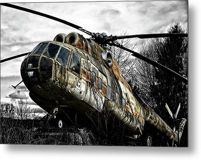 Lost Helicopter Metal Print