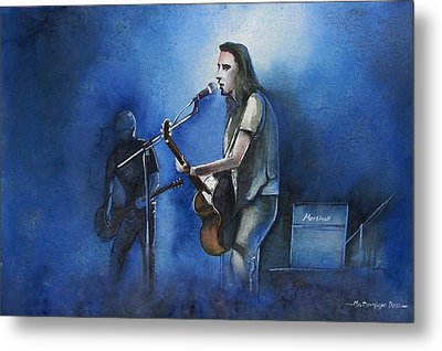 Lost In Singing Metal Print
