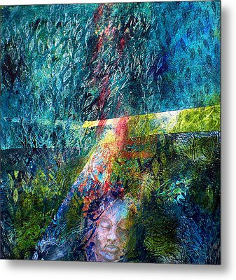 Lost In The Woods Metal Print by Sue Reed