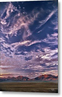 Lost River Sky Metal Print by Leland D Howard
