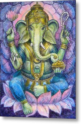 Lotus Ganesha Metal Print