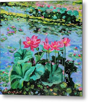 Lotus Metal Print by Alexandra Maria Ethlyn Cheshire
