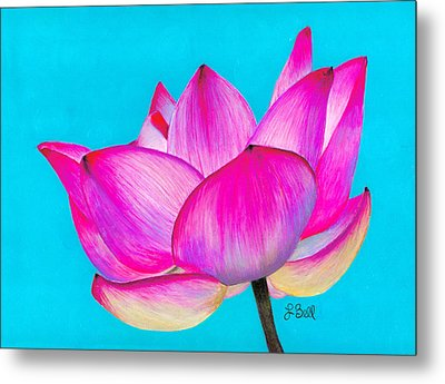 Metal Print featuring the painting Lotus  by Laura Bell