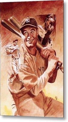 Lou Gehrig Metal Print by Ken Meyer jr