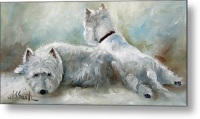 Lounge Metal Print by Mary Sparrow