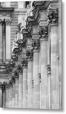 Metal Print featuring the photograph Louvre Pillars, Paris, 2015 by Hitendra SINKAR
