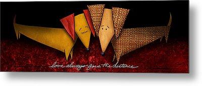 Love Always Goes The Distance Metal Print by Shevon Johnson