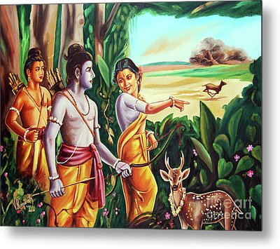 Love And Valour- Ramayana- The Divine Saga Metal Print