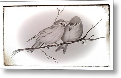 Love Birds Metal Print by Ginny Youngblood