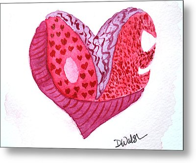 Metal Print featuring the painting Love Heart by Donna Walsh