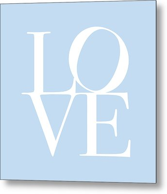 Love In Baby Blue Metal Print by Michael Tompsett