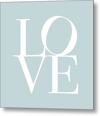 Love In Duck Egg Blue Metal Print by Michael Tompsett