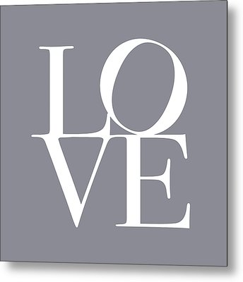 Love In Grey Metal Print by Michael Tompsett