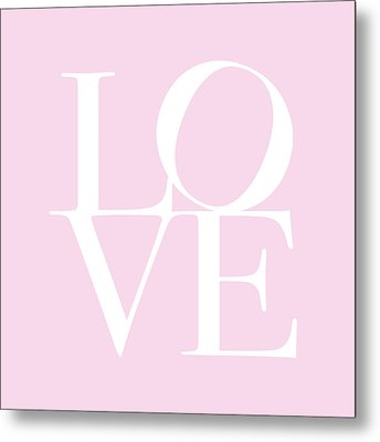 Love In Pink Metal Print by Michael Tompsett