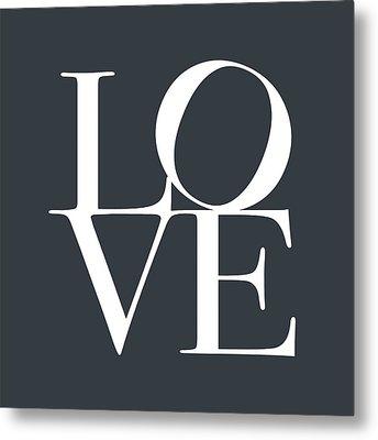 Love In Slate Grey Metal Print by Michael Tompsett