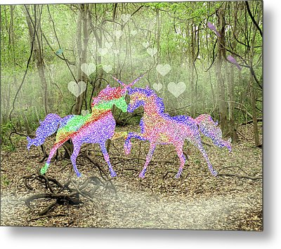Love In The Magical Forest Metal Print by Rosalie Scanlon