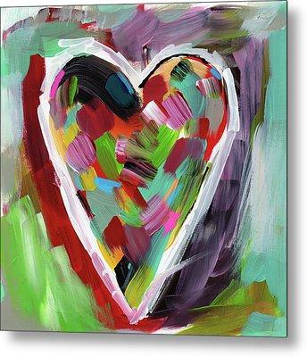 Love Is Colorful 3- Art By Linda Woods Metal Print