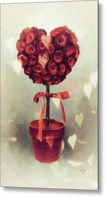 Metal Print featuring the digital art Love Is In The Air by Lois Bryan