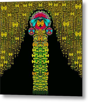 Love Me Give Me A Home Indoors Popart Metal Print by Pepita Selles