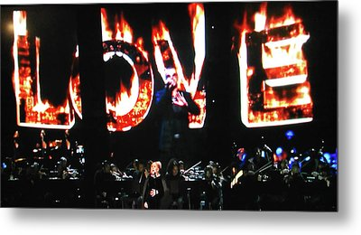 Love Me Some George Michael And Adele Metal Print by Toni Hopper