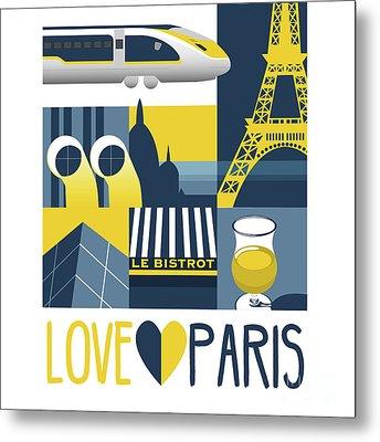 Love Paris  Metal Print
