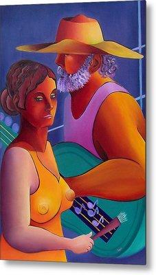 Metal Print featuring the painting Love Song by Karin Eisermann