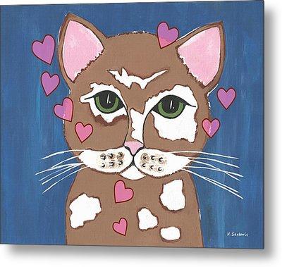 Loveable Cat Metal Print by Kathleen Sartoris