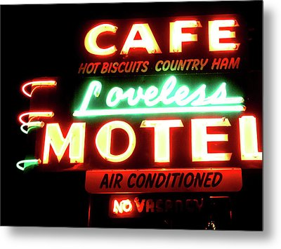 Loveless Cafe- Art By Linda Woods Metal Print by Linda Woods