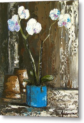 Lovely Orchids Metal Print by Patricia Awapara