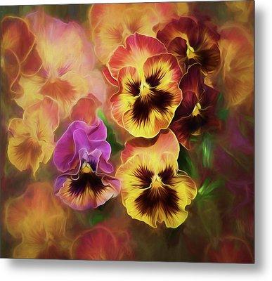 Lovely Spring Pansies Metal Print by Diane Schuster