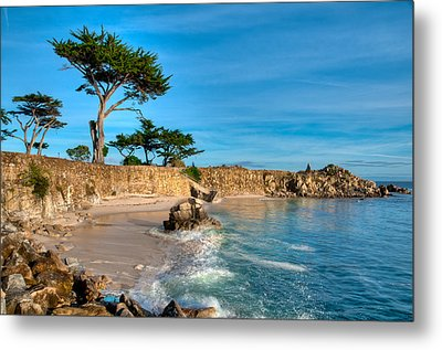 Lovers Point Pacific Grove Early Morning Metal Print by Connie Cooper-Edwards