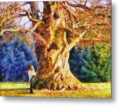 Lovers Tree Metal Print by Jai Johnson