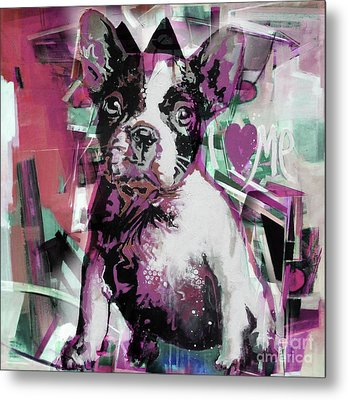Loving Dog 66n Metal Print by Gull G