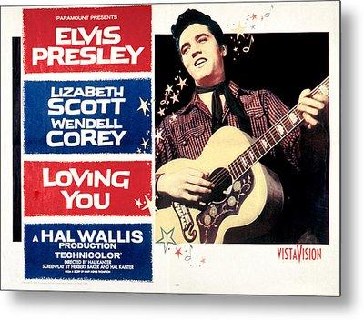 Loving You, Elvis Presley, 1957 Metal Print by Everett