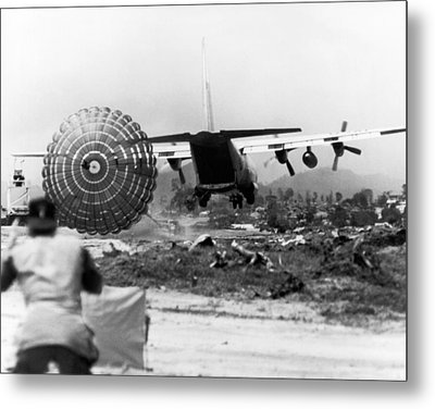 Low Altitude Supplies Metal Print