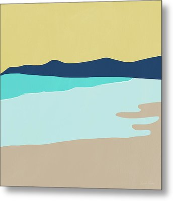 Low Tide- Art By Linda Woods Metal Print