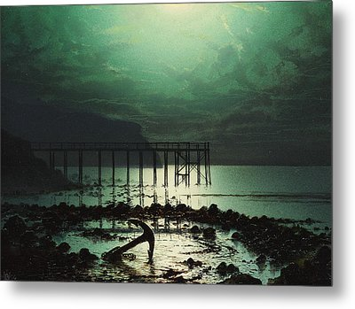 Low Tide By Moonlight Metal Print by WHJ Boot