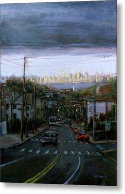Lower Manhattan 2002 Metal Print by Sarah Yuster