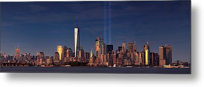Metal Print featuring the photograph Lower Manhattantribute In Light by Emmanuel Panagiotakis