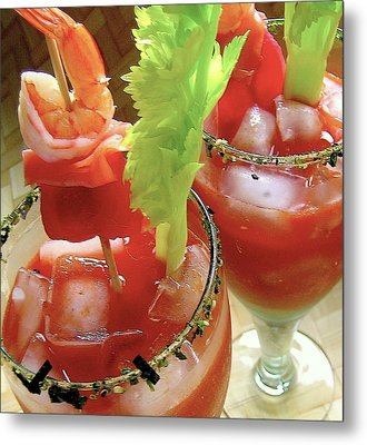 Luau Bloody Mary Metal Print by James Temple