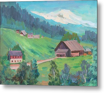 Metal Print featuring the painting Lucerne Countryside by Diane McClary