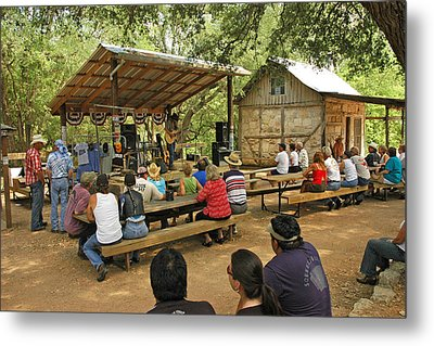 Luckenbach Music Metal Print by Robert Anschutz