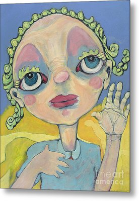 Metal Print featuring the painting Lulu by Michelle Spiziri
