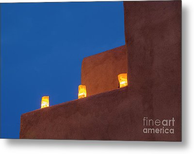 Luminarias At Twilight Metal Print