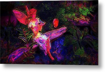 Metal Print featuring the photograph Luminescent Night Fairy by Lori Seaman