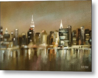Luminous New York Skyline  Metal Print