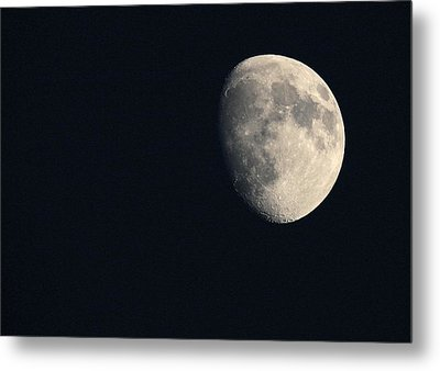 Lunar Surface Metal Print by Angela Rath