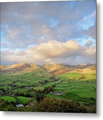 Lune Valley And Howgill Fells Metal Print by David Barrett
